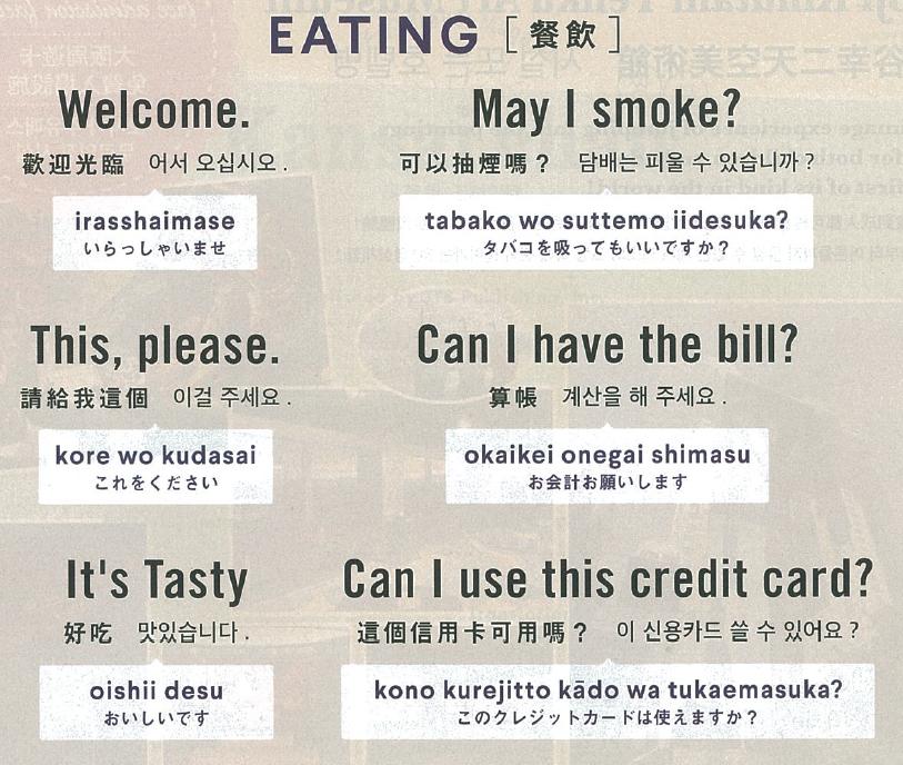 ภาษาญี่ปุ่นที่ต้องรู้เมื่อเที่ยวญี่ปุ่น
