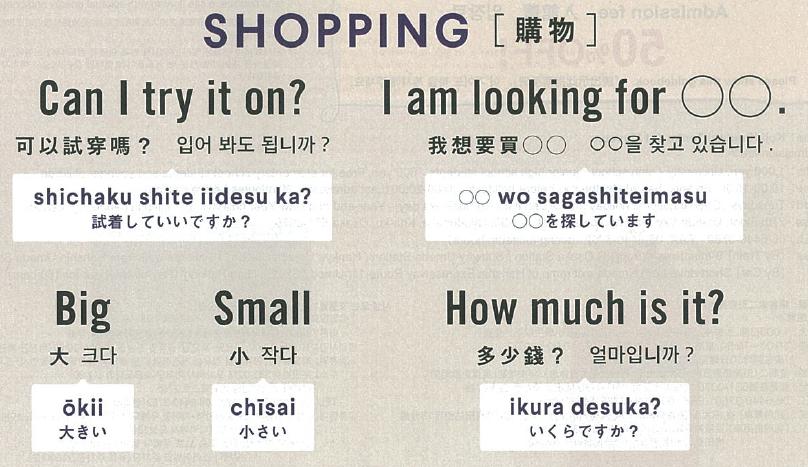 Useful Japanese words