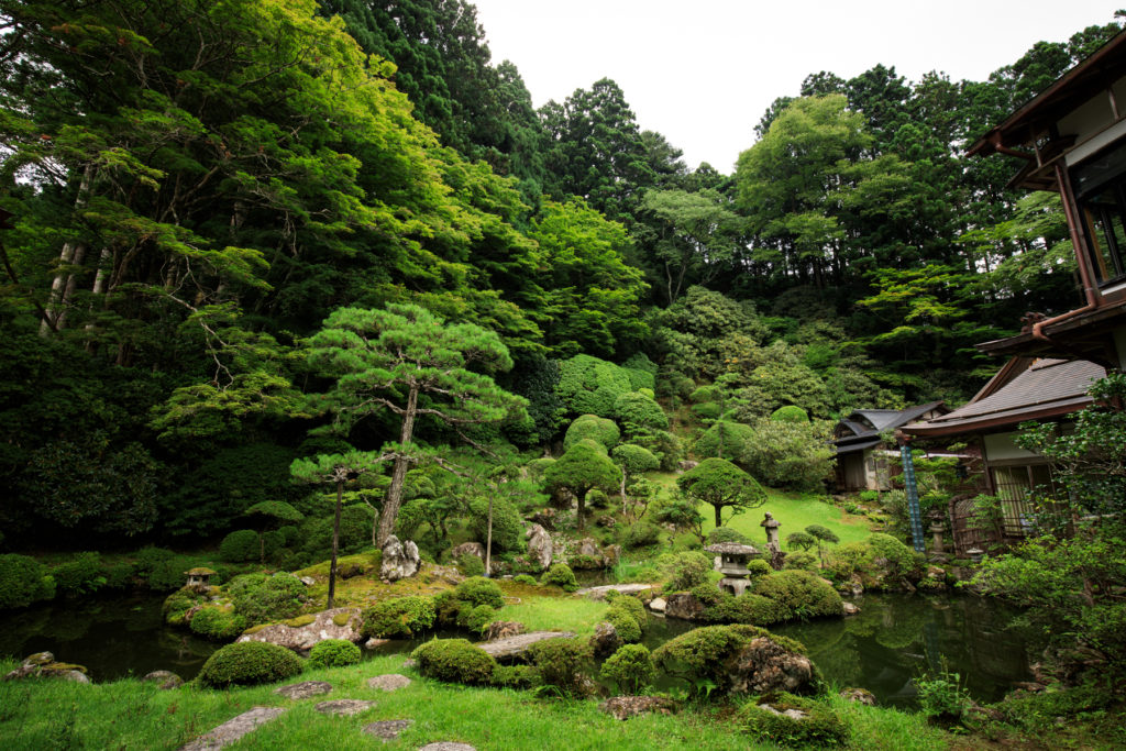 Enjoying the beautiful Gardens in Koyasan