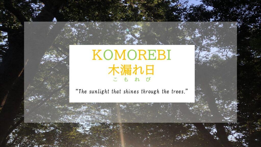 Interesting Japanese Words: Komorebi