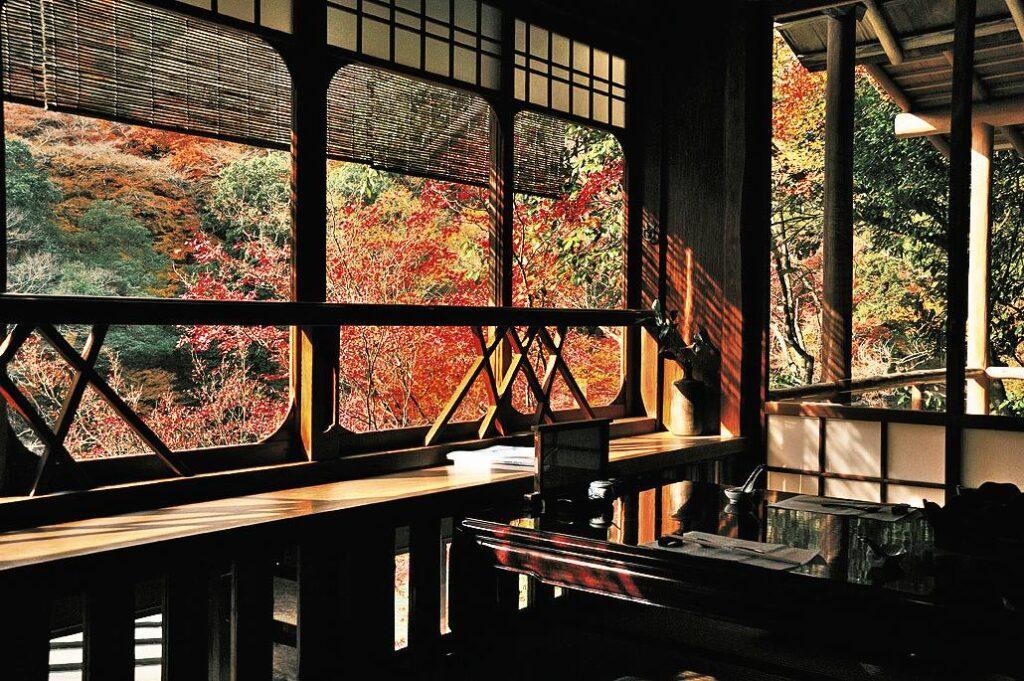 Arashiyama Shoraian Kyoto Autumn